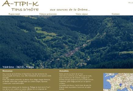 A-Tipi-K, Valdrôme, Drôme (26), Tipis