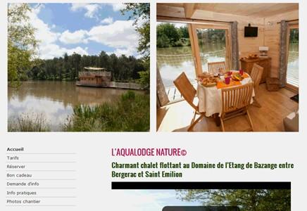 Domaine de l'Etang de Bazange, Monfaucon, Dordogne (24), Cabane flottante, Tente Cotton Lodge.