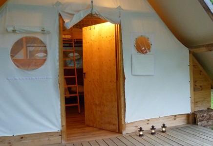 Camping Pré Fixe****, Haute Garonne (31), Tentes trappeur, Chalets en bois