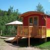 Camping La Rochelambert, cabanes, roulottes, tentes nomades, Haute Loire (43)