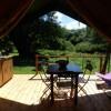 Ecolodges du Taillefer, Haute-Savoie, Tentes Safari et Canadiennes, Tipis