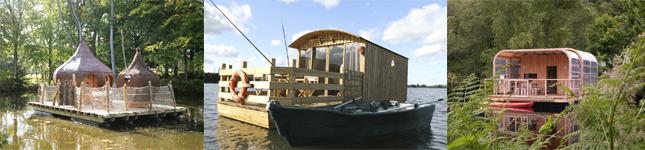 Cabanes sur l'eau Bretagne, Basse-Normandie